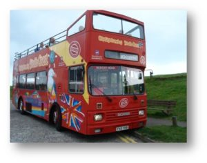 OA Dušní, poznávací zájezd, double-decker bus
