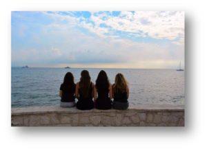 OA Dušní, poznávací zájezd, západ slunce u moře