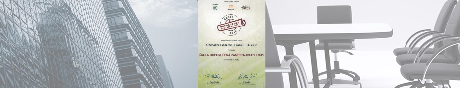 Škola doporučená zaměstnavateli 2015