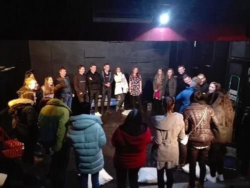 Ukázka z divadelní hry.