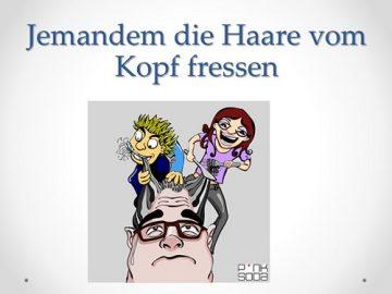 Ukázka frazému v němčině.
