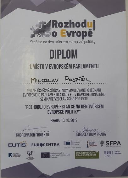 Diplom - Rozhoduj o Evropě.