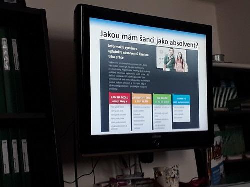 Ukázka prezentace na Úřadu práce.
