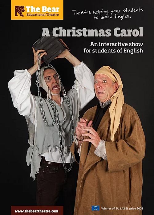 """Plakát """"Vánoční hry"""" - návštěva anglického divadla."""