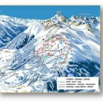 mapa lyžařského areálu v rakouských Alpách