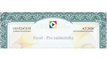 Ukázka certifikátu ze školení ITE distančně.
