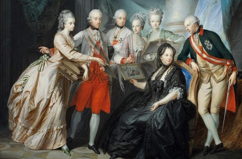 Malba Marie Terezie a Josefa II