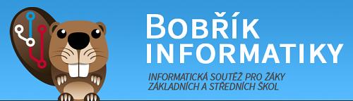 Hlava bobra, jako logo soutěže Bobřík informatiky