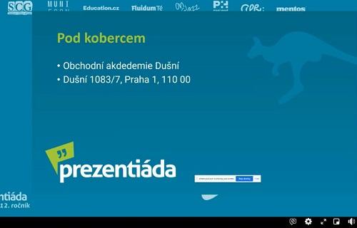 Ukázka z prezentace v soutěži
