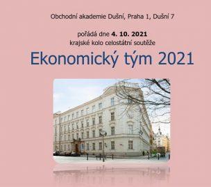 Pozvánka na soutěž Ekonomický tým 2021